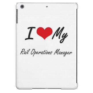 Amo a mi jefe de explotación del carril funda para iPad air