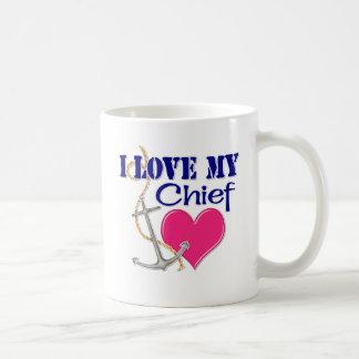 Amo a mi jefe taza de café