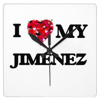 Amo a MI Jiménez Reloj Cuadrado