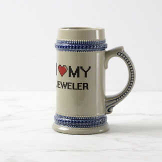 Amo a mi joyero jarra de cerveza