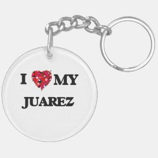 Amo a MI Juarez Llavero Redondo Acrílico A Doble Cara