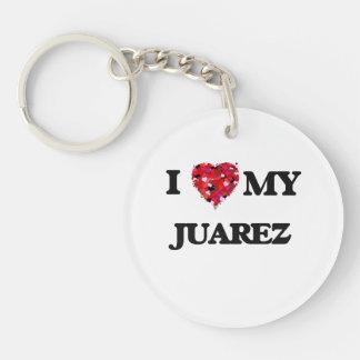 Amo a MI Juarez Llavero Redondo Acrílico A Una Cara