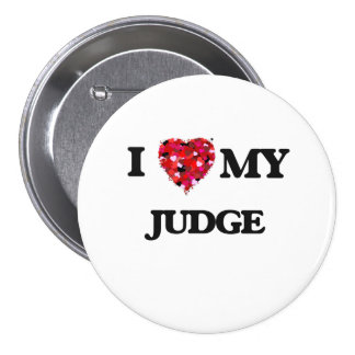 Amo a mi juez pin redondo 7 cm
