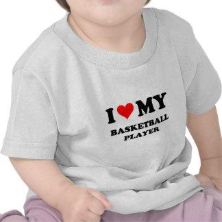 Amo a mi jugador de básquet camiseta