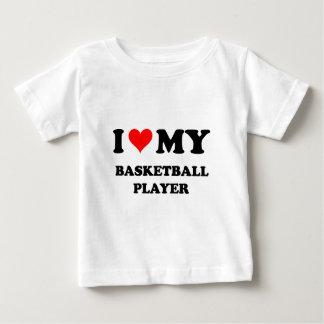 Amo a mi jugador de básquet playera de bebé