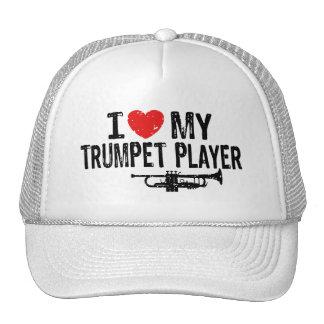Amo a mi jugador de trompeta gorros bordados
