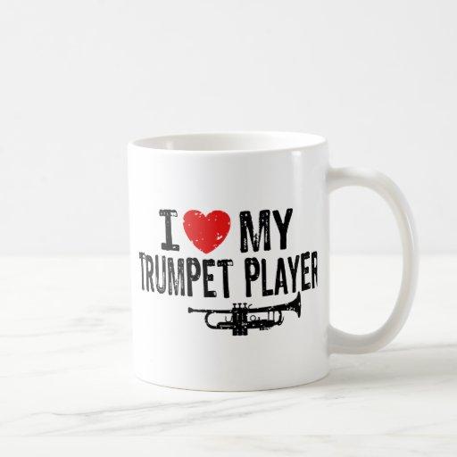 Amo a mi jugador de trompeta taza de café
