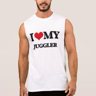 Amo a mi juglar camisetas sin mangas