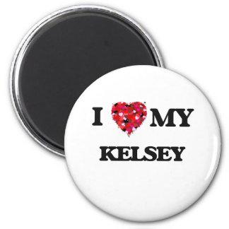 Amo a mi Kelsey Imán Redondo 5 Cm
