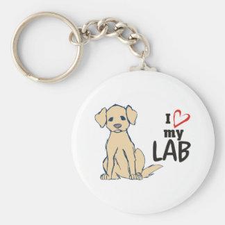 Amo a mi labrador retriever del laboratorio llavero redondo tipo pin