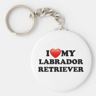 AMO A MI LABRADOR RETRIEVER LLAVERO REDONDO TIPO PIN