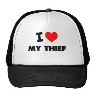 Amo a mi ladrón gorros bordados