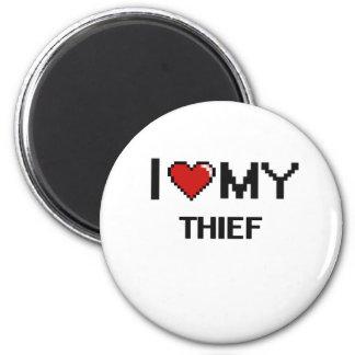 Amo a mi ladrón imán redondo 5 cm