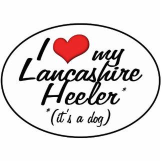 Amo a mi Lancashire Heeler (es un perro) Adorno Fotoescultura