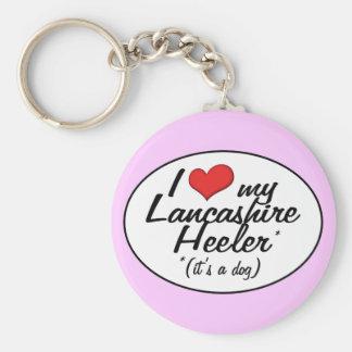 Amo a mi Lancashire Heeler (es un perro) Llavero Redondo Tipo Pin