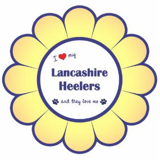 Amo a mi Lancashire Heelers (los perros múltiples) Adorno Fotoescultura