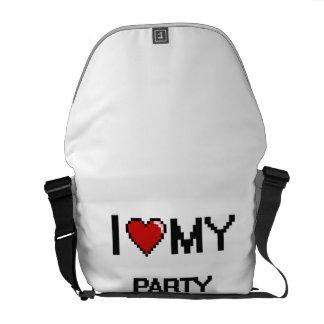 Amo a mi líder de fiesta bolsas de mensajería