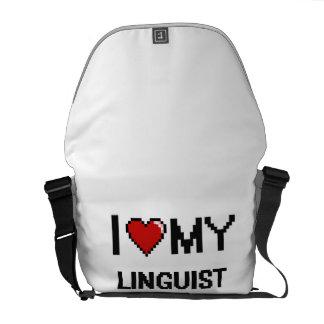 Amo a mi lingüista bolsa de mensajería