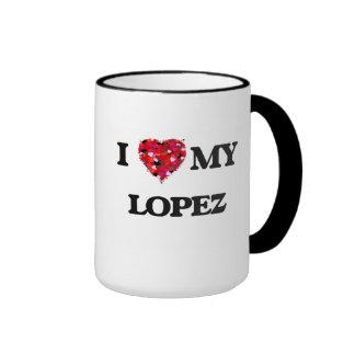 Amo a MI López Taza De Dos Colores