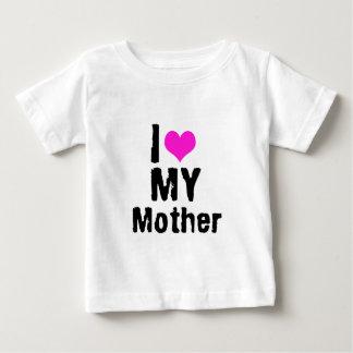 Amo a mi madre playera de bebé