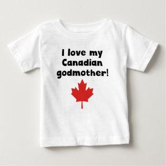 Amo a mi madrina canadiense playera de bebé
