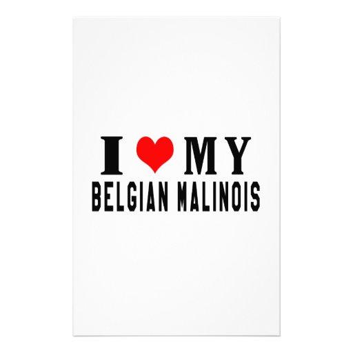 Amo a mi Malinois belga Papeleria