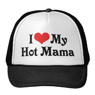 Amo a mi mamá caliente gorro de camionero