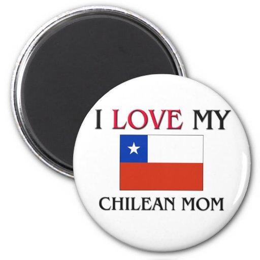 Amo a mi mamá chilena imanes