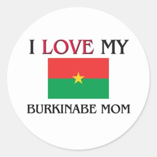 Amo a mi mamá de Burkinabe Pegatinas Redondas