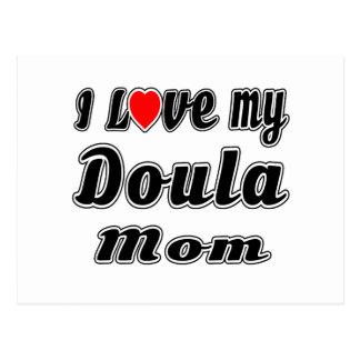 Amo a mi mamá de Doula Tarjetas Postales