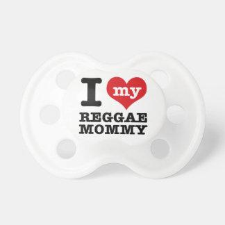 Amo a mi mamá de la danza del reggae chupetes para bebés