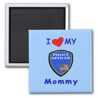 Amo a mi mamá de la policía imán de nevera