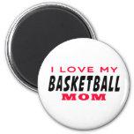 Amo a mi mamá del baloncesto imanes para frigoríficos
