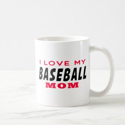 Amo a mi mamá del béisbol tazas de café