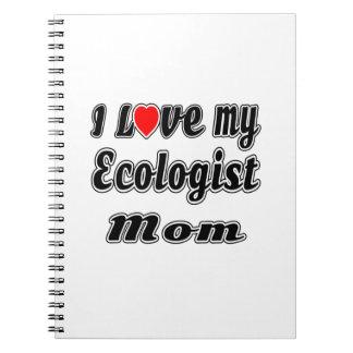 Amo a mi mamá del ecologista libretas