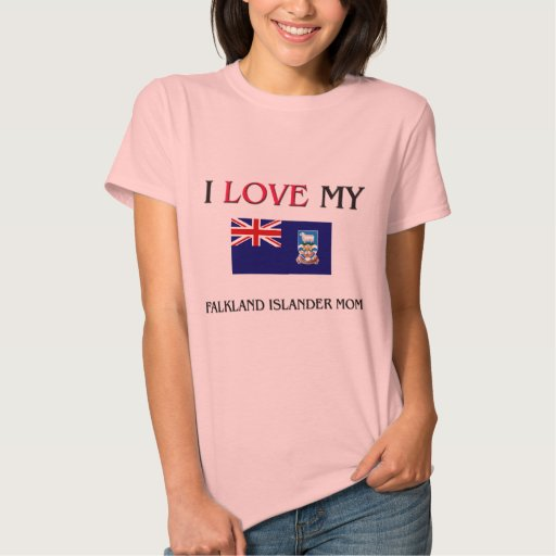 Amo a mi mamá del isleño de Malvinas Camisetas