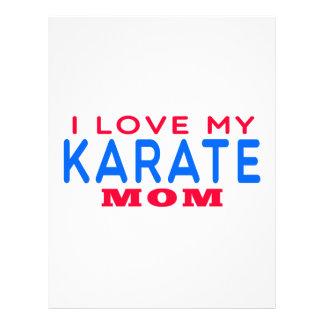 Amo a mi mamá del karate membrete a diseño