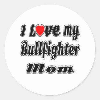 Amo a mi mamá del torero pegatinas redondas