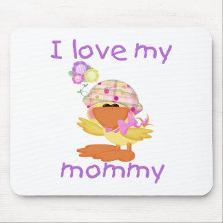 Amo a mi mamá (el chica ducky) tapetes de raton
