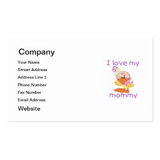 Amo a mi mamá (el chica ducky) tarjetas de visita