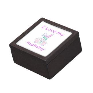 Amo a mi mamá el conejito del chica cajas de regalo de calidad