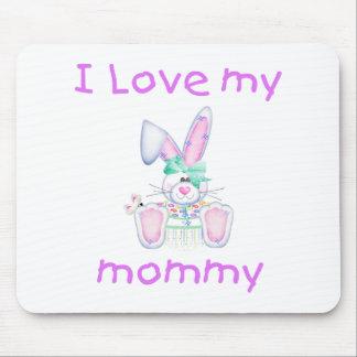 Amo a mi mamá (el conejito del chica) tapete de raton