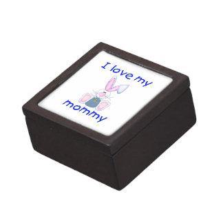 Amo a mi mamá el conejito del muchacho cajas de regalo de calidad