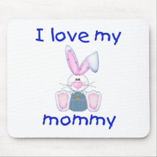 Amo a mi mamá (el conejito del muchacho) tapetes de raton