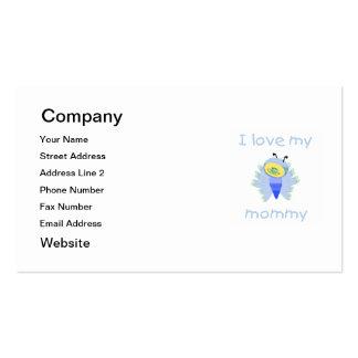Amo a mi mamá (el flutterbug del muchacho) tarjetas de visita