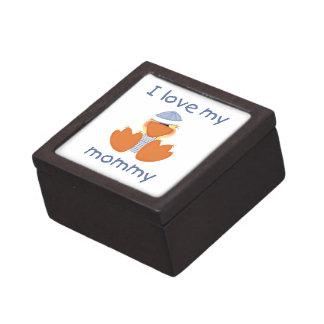 Amo a mi mamá el muchacho ducky caja de regalo de calidad