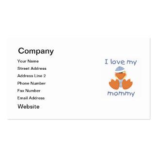Amo a mi mamá (el muchacho ducky) tarjetas de visita