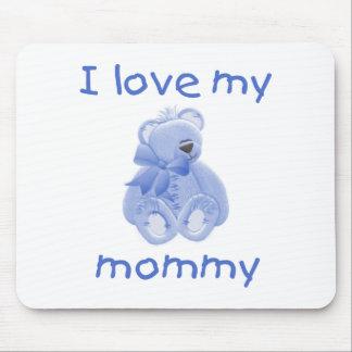 Amo a mi mamá (el oso azul) alfombrillas de ratones
