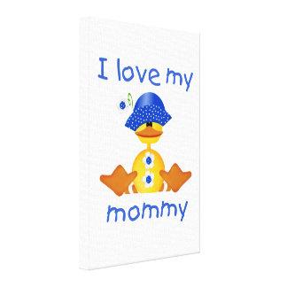 Amo a mi mamá (el pato del chica) impresión en lona estirada