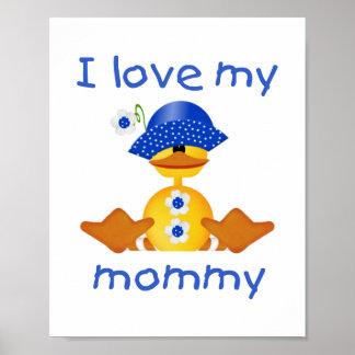 Amo a mi mamá (el pato del chica) impresiones
